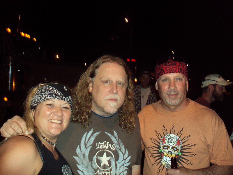 Warren Haynes, Greg Dunsmore, and Tammy Dunsmore